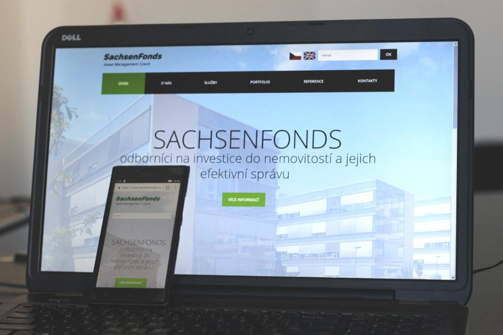 Ukázka práce - firemní web SachsenFonds.cz