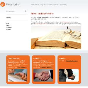 Dokončena výstavba webu Překlad právo
