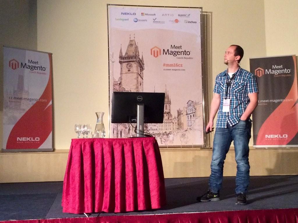 Stanislav Puffler (OPEN MAGE) na Meet Magento CZ 2016