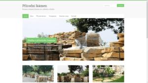 Wordpress mikrostránka zahradního centra věnovaná přírodnímu kameni