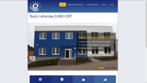 Wordpress mikrostránka pronájmu školících prostor EURO CERT CZ, a.s.